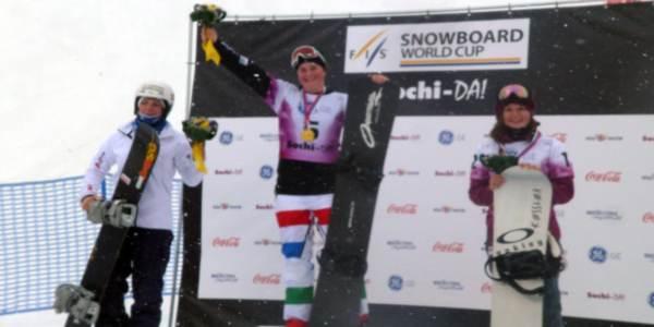 17/2/2013 – Coppa del Mondo di SnowBoard Cross: Michela Moioli vince a Sochi