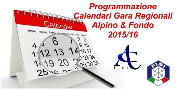 Fisi Alpi Centrali Calendario.Programmazione Calendari Gara Regionali Alpino Fondo