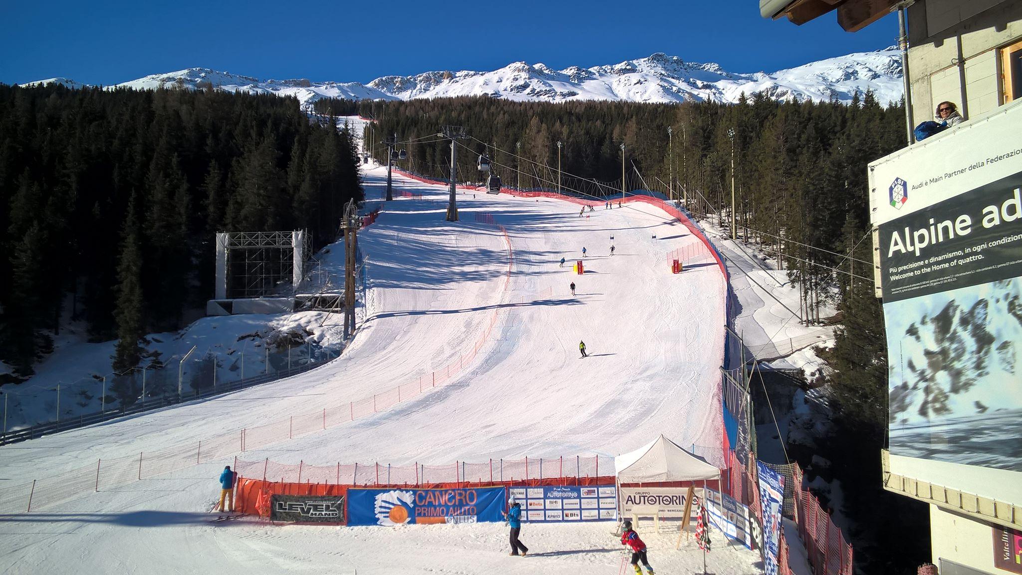 Sci alpino: nel gigante FIS Cittadini di Santa Caterina successo per il bormino Tommaso Canclini