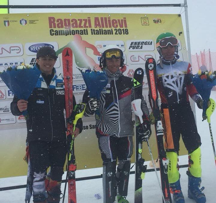 """Campionati italiani Children 2018: """"siete forti Ragazzi"""". Ferretti è oro nello slalom speciale"""