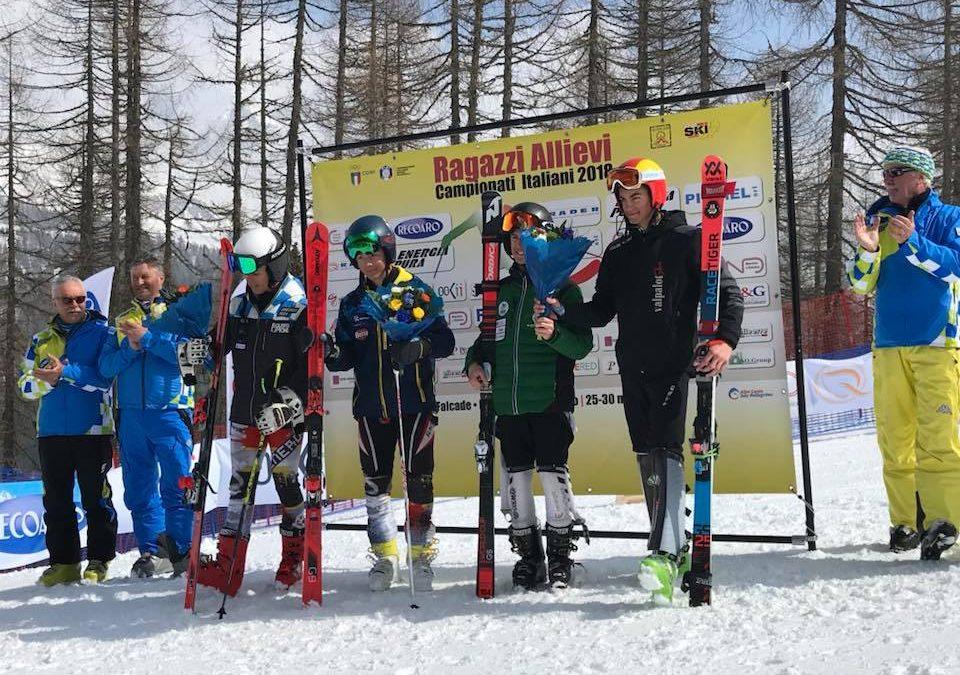 Sci alpino: Motterlini campione italiano categoria Ragazzi di slalom gigante. Bronzo per Federico Romele