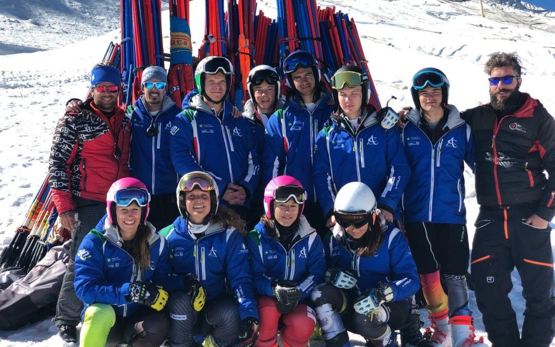 Sci alpino: concluso il primo collettivo stagionale al Passo dello Stelvio
