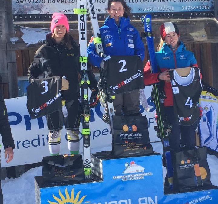Gran Prix Italia di sci alpino: capolavoro Ghisalberti. La zognese è ottava assoluta e vince la classifica di gigante Gran Prix