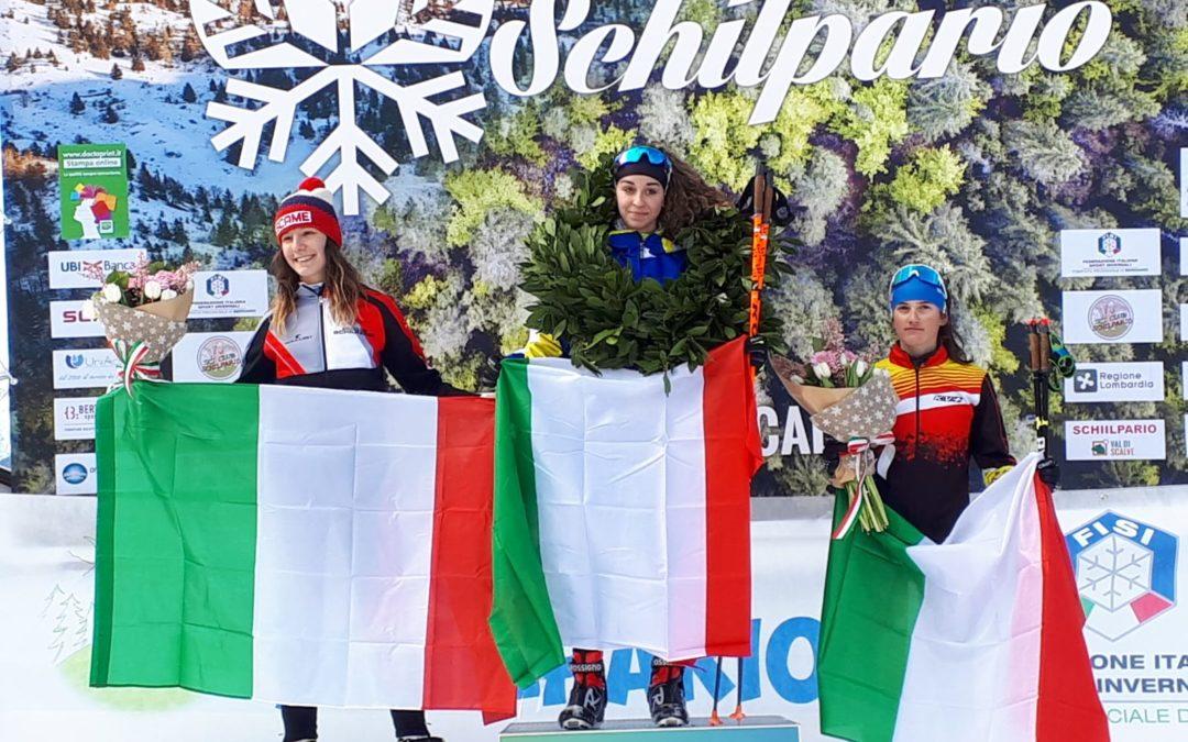 Sci nordico: Lucia Isonni centra la medaglia d'argento nella gimkana sprint degli italiani Allievi di Schilpario. Artusi, in campo maschile è quarto