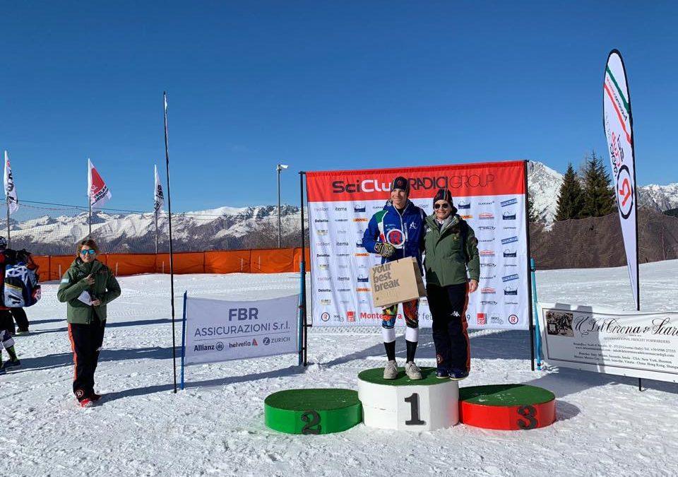 Sci alpino: al Monte Pora nello speciale FIS del Gran Prix Alessandro Pizio è primo negli aspiranti