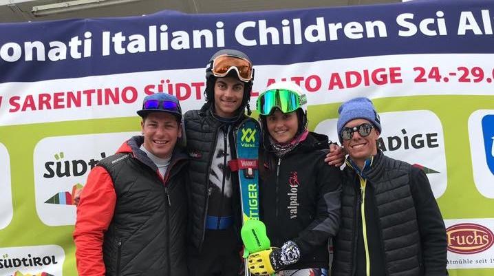 Sci alpino: è festa grande a Sarentino! Ludovica Loda e Federico Romele campioni italiani allievi in slalom