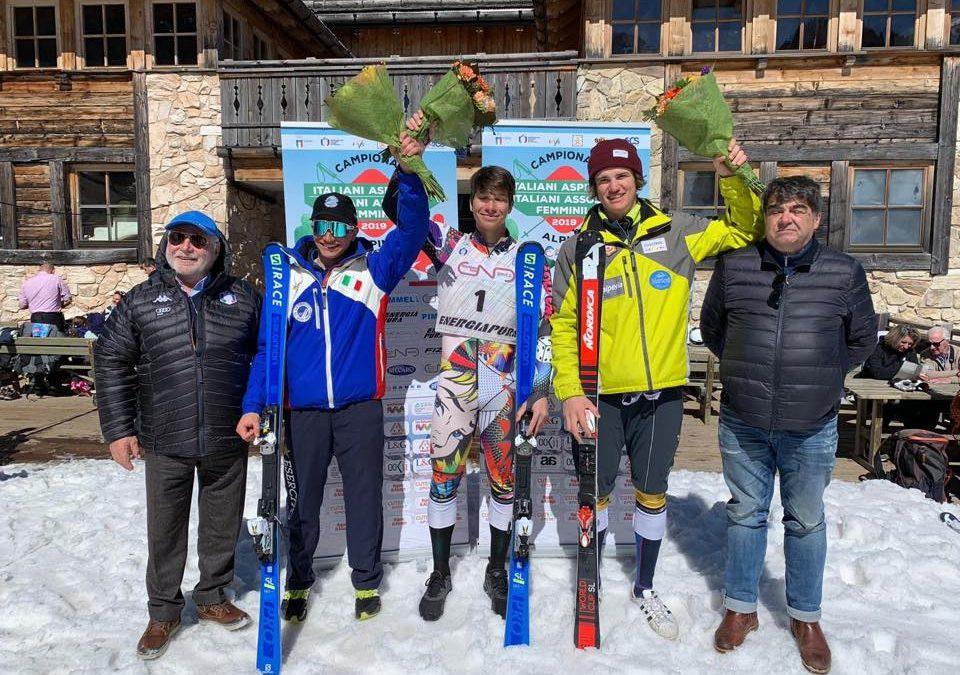 Alessandro Pizio è campione italiano aspiranti in slalom speciale