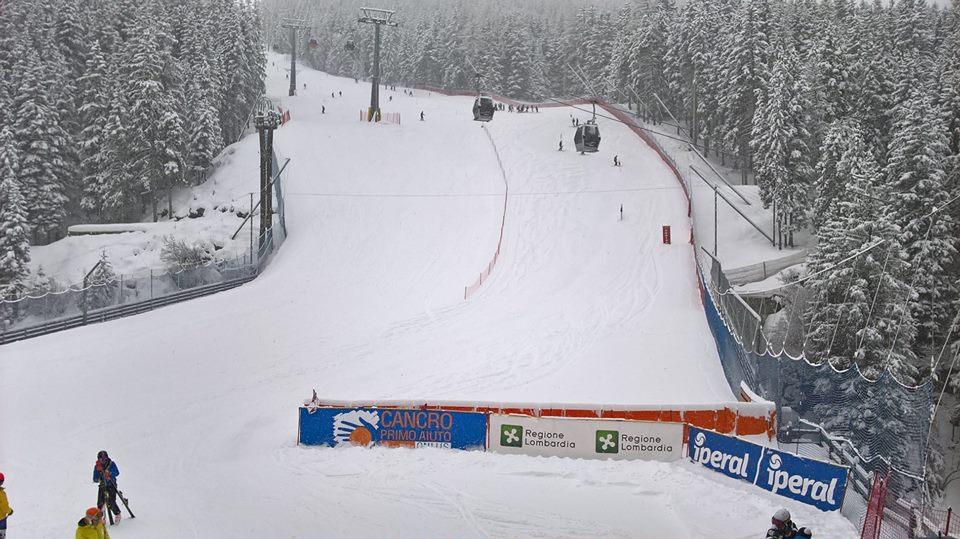Campionati regionali di sci alpino: nonostante la nevicata oggi di scena il gigante ragazzi. Successo per Ilaria Compagnoni e Luca Ruffinoni