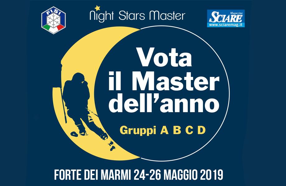 """""""Night Star Master"""": aperte le votazioni on line per l'elezione del """"Master dell'anno 2019"""""""