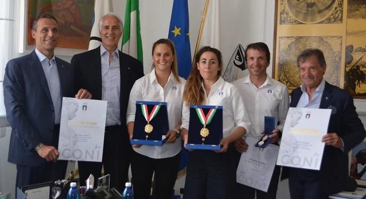 I campioni della FISI ricevuti a palazzo Chigi. Moili, Goggia e Pisoni premiati con il Collare d'Oro del Coni