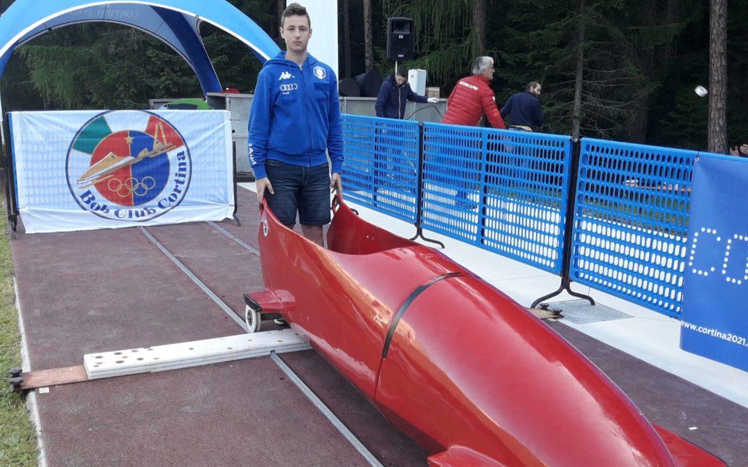Campionati italiani di spinta: nel bob a due, Farina è bronzo fra gli junior
