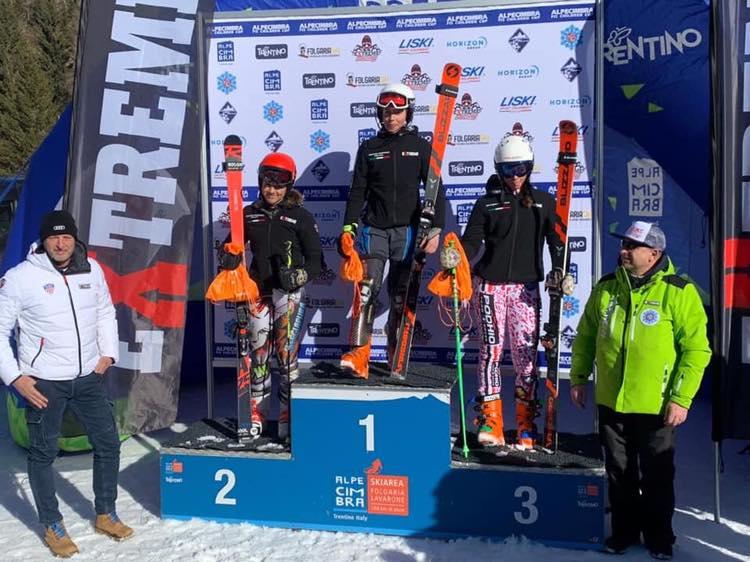 Sci alpino: nel gigante dell'Alpe Cimbra FIS Children Cup la Bettoni è terza