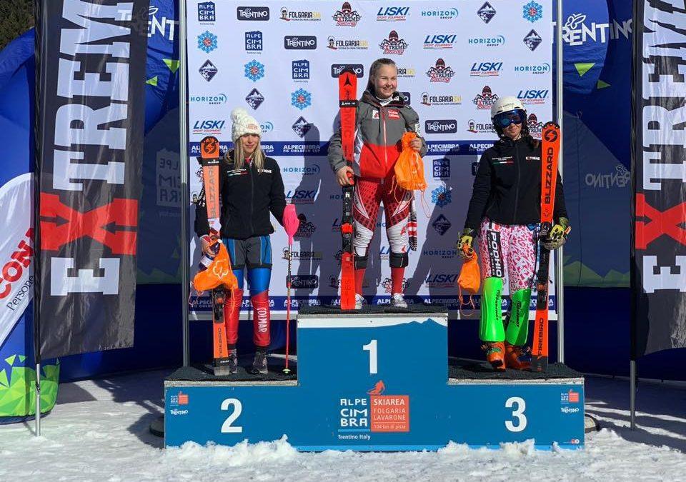 Sci alpino: seconda medaglia per la Bettoni. La bergamasca terza nello speciale dell'Alpe Cimbra FIS Children Cup