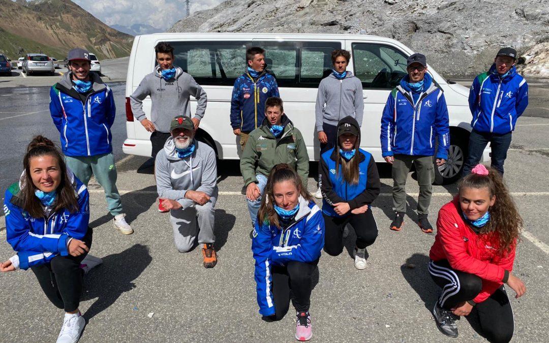 Sci alpino: la formazione maschile e femminile del Comitato FISI Alpi Centrali torna al lavoro allo Stelvio