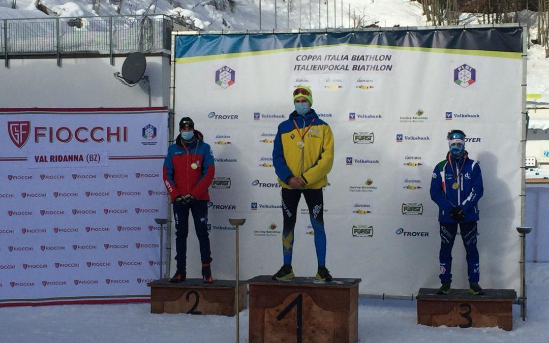 Biathlon: nell'inseguimento in Val Ridanna Davide Compagnoni è terzo e resta leader fra gli aspiranti