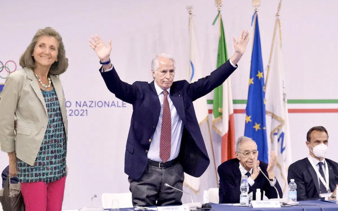 Claudia Giordani sul podio dello sport nazionale